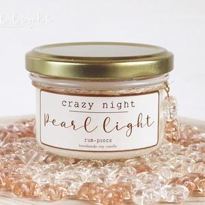 Crazy Night szójagyertya 120 ml, Otthon & Lakás, Dekoráció, Gyertya & Gyertyatartó, Gyertya-, mécseskészítés, Mámorító élmény a rum/puncs varázslatos aromájával.\n\n100% természetes szójaviasz, -illatolajok valam..., Meska