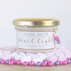 Candy World szójagyertya 120 ml, Otthon & Lakás, Dekoráció, Gyertya & Gyertyatartó, Gyertya-, mécseskészítés, Gyermekkori varázslatos cukormámor a pillecukor és vanília imádatával.\n\n100% természetes szójaviasz,..., Meska