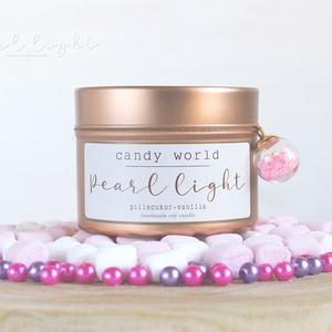 Candy World szójagyertya 100 ml, Otthon & Lakás, Dekoráció, Gyertya & Gyertyatartó, Gyertya-, mécseskészítés, Gyermekkori varázslatos cukormámor a pillecukor és vanília imádatával.\n\n100% természetes szójaviasz,..., Meska