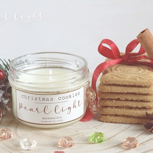 Christmas Cookies szójagyertya 120 ml, Otthon & Lakás, Dekoráció, Gyertya & Gyertyatartó, Gyertya-, mécseskészítés, A nagyi konyhájából Illatozó fűszeres, mézes sütemény csodás emléke.\n\n100% természetes szójaviasz, -..., Meska
