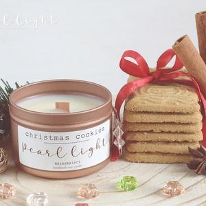 Christmas Cookies szójagyertya 100 ml, Otthon & Lakás, Dekoráció, Gyertya & Gyertyatartó, Gyertya-, mécseskészítés, A nagyi konyhájából Illatozó fűszeres, mézes sütemény csodás emléke.\n\n100% természetes szójaviasz, -..., Meska