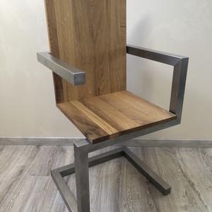 Egyedi megjelenésű szék, Otthon & Lakás, Bútor, Szék & Fotel, Famegmunkálás, Mindenmás, Időtálló bútor. Kézzel készült modern szék, minden egyes darab egyedi. Ülőlapja minőségi tömörfa, te..., Meska