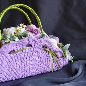 Horgolt virágos ridiküll lakásdekoráció, ballagási ajándék (Pekangel) - Meska.hu