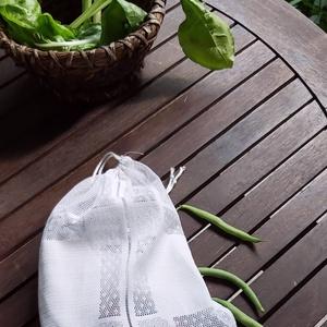 Öko bevásárló tasak, zerowaste zacskók, Táska & Tok, Bevásárlás & Shopper táska, Zöldség/Gyümölcs zsák, Ha fontos a  számodra a környezet védelme, vigyél magaddal bevásárláshoz textíl zacskót.Kis helyen e..., Meska