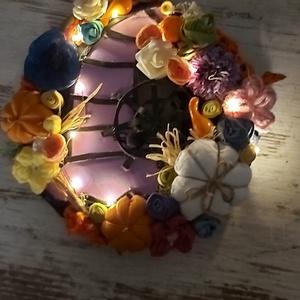 Különleges világító halloweeni ajtódísz - otthon & lakás - dekoráció - ajtódísz & kopogtató - Meska.hu