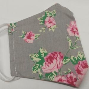 Rózsás acmaszk, textílmaszk, mosható szájkendő, Maszk, Arcmaszk, Férfi & Uniszex, Varrás, Ez a maszk 2 réteg pamutvászonból készült.\nA maszkjaim nem speciális anyagból készülnek, mert az ily..., Meska