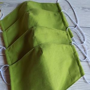 Almazöld szájmaszk, textílmaszk, Maszk, Arcmaszk, Gyerek, Varrás, \nA szájmaszk különlegessége, hogy újra felhasználható, szabása igazodik az archoz.\nA gumi hosszának ..., Meska