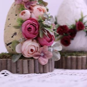 Kőhatású, húsvétváró tojás, asztaldísz - otthon & lakás - dekoráció - asztaldísz - Meska.hu