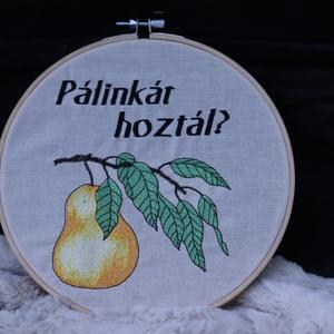 Hímzett karika aranyköpéssel, ajtódísz, falidísz, ajándék - Meska.hu