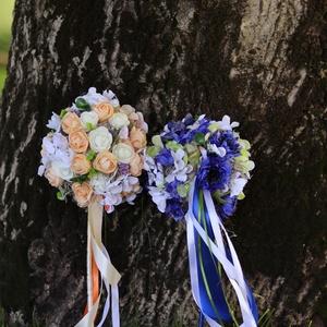Virágfa ballagásra, koszrúslányoknak csokor helyett, Esküvő, Dekoráció, Asztaldísz, Mindenmás, Ballagásra vagy eskűvőre készítettem  ezekwt a virágfákat.\nKönnyű kézben tartani.\nKésőbb vázába hely..., Meska