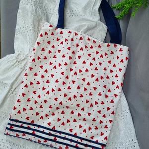 Textíl bevásárló szatyor, mosható textíltáska, Táska & Tok, Bevásárlás & Shopper táska, Shopper, textiltáska, szatyor, Varrás, Meska
