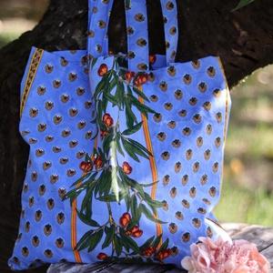 Textíl bevásárló szatyor, mosható textíltáska - táska & tok - bevásárlás & shopper táska - shopper, textiltáska, szatyor - Meska.hu