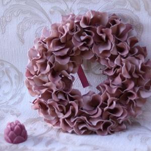 Csupaszirom ajtódísz, vintage rózsás dekoráció - Meska.hu