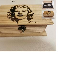 Parfümös ajándék doboz, egyedi, kézműves, fából, Szépségápolás, Dezodor & Parfüm, Famegmunkálás, Egyedi, fából készült, kézműves ajándék doboz, bármilyen mintával.\nBármilyen mintával, bármilyen szö..., Meska
