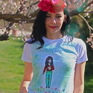 Mesefigurás póló, Táska, Divat & Szépség, Női ruha, Ruha, divat, Blúz, Festészet, Igen izgalmas lehet egy saját mesekarakteres pólóban lenni, ami még a hobbidat vagy a foglalkozásoda..., Meska