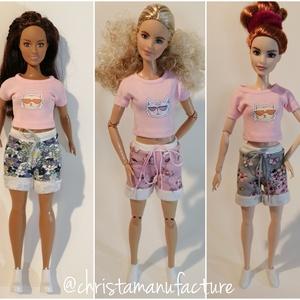 Barbie rövidnadrág, Játék & Gyerek, Baba & babaház, Babaruha, babakellék, Varrás, Barbie laza rövidnadrág, mely illik normál Barbie, Curvy Barbie, BMR1959 (magas) Barbie babára is.\nA..., Meska