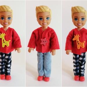 Barbie Celsea fiú baba ruha szett, Játék & Gyerek, Baba & babaház, Babaruha, babakellék, Varrás, Kabát és nadrág Chelsea fiú baba részére.\nA ruha illik más 13-14 cm magas babára is. \nA baba és a ci..., Meska