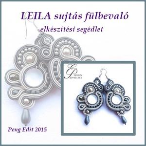 Leila sujtás fülbevaló elkészítési segédlet, Egyéb, Csináld magad leírások, Leila sujtás fülbevaló  A minta tartalma Részletes lépésről-lépésre szöveges magyarázatot és 72 db s..., Meska
