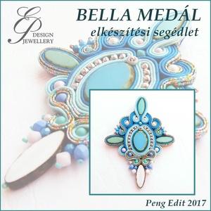 Bella sujtás medál elkészítési segédlet, Egyéb, Csináld magad leírások, Bella sujtás medál  A minta tartalma Részletes lépésről-lépésre szöveges magyarázatot és 121 db szín..., Meska