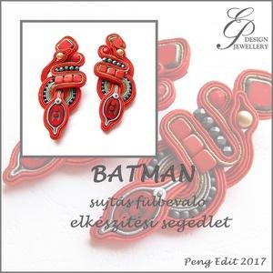 Batman sujtás fülbevaló elkészítési segédlet PDF, DIY (Csináld magad), Fűzésminták, Ékszerkészítés, Gyöngyfűzés, gyöngyhímzés, Batman sujtás fülbevaló elkészítési segédlet\n\nA minta tartalma\nRészletes lépésről-lépésre szöveges m..., Meska