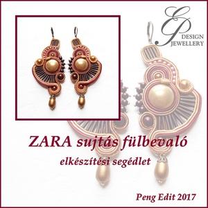 Zara sujtás fülbevaló elkészítési segédlet, Egyéb, Csináld magad leírások, Zara sujtás fülbevaló  A minta tartalma Részletes lépésről-lépésre szöveges magyarázatot és több min..., Meska