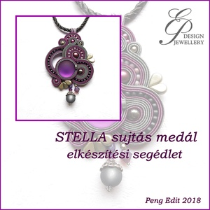 Stella sujtás medál elkészítési segédlet, DIY (Csináld magad), Fűzésminták, Ékszerkészítés, Gyöngyfűzés, gyöngyhímzés, A minta tartalma\nRészletes lépésről-lépésre szöveges magyarázatot és több mint 99 db színes fotót ta..., Meska