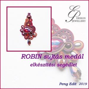 Robin medál elkészítési segédlet- haladóknak, DIY (Csináld magad), Fűzésminták, A minta tartalma Részletes lépésről-lépésre szöveges magyarázatot és 112 db színes fotót tartalmaz. ..., Meska