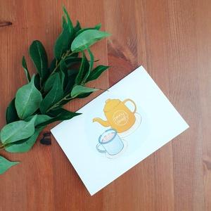 Hygge képeslap, Művészet, Grafika & Illusztráció, Papírművészet, Fotó, grafika, rajz, illusztráció, A hygge jegyeden készült, kihajtható képeslap a márkához tartozó  saját dizájnnal. A képeslap belül ..., Meska
