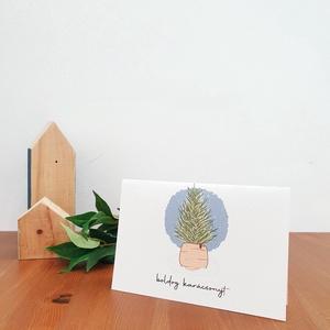 Karacsonyi képeslap, Művészet, Grafika & Illusztráció, Papírművészet, Fotó, grafika, rajz, illusztráció, Karácsonyi kihajtható képeslap a márkához tartozó  saját dizájnnal. A képeslap belül űres a hátulján..., Meska