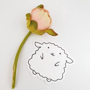 Bodza a bárány -  matrica, Művészet, Grafika & Illusztráció, Fotó, grafika, rajz, illusztráció, Ezt az aranyos matricát a saját grafikámból készítettem. Én rajzoltam, nyomtattam és vágógéppel vágt..., Meska