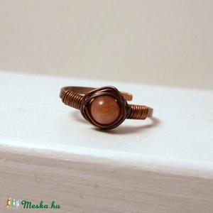 Napköves vörösréz gyűrű (PerAnnaEkszer) - Meska.hu