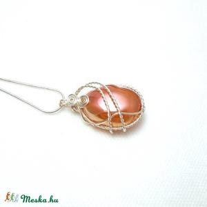 Rózsakvarc aura kristály medál (PerAnnaEkszer) - Meska.hu