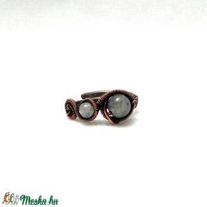 Labradorit holdkő vörösréz gyűrű (PerAnnaEkszer) - Meska.hu