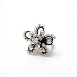 Vörösréz fehér szellőrózsa gyűrű (PerAnnaEkszer) - Meska.hu