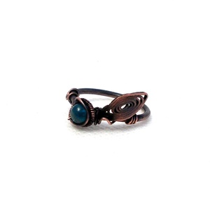 Kék apatit levélkés gyűrű (PerAnnaEkszer) - Meska.hu