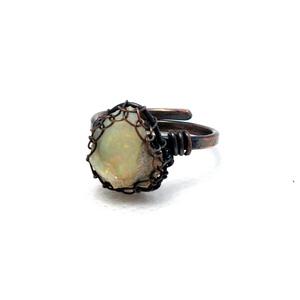 Opál vörösréz gyűrű, etióp opál vörösréz gyűrű (PerAnnaEkszer) - Meska.hu