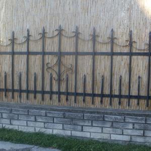 Kovácsoltvas kerítés, Kerti bútor, Ház & Kert, Otthon & Lakás, Kovácsoltvas, Kovácsoltvas kerítéselem, ívelt, 2,5 m X 1 m;\nKovácsoltvas kapu, ívelt,3 m X 1,5 m;\nKovácsoltvas ajt..., Meska