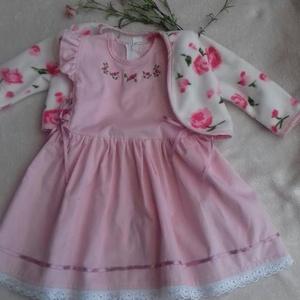 Kordbársony lányka ruha kabáttal., Táska, Divat & Szépség, Gyerekruha, Ruha, divat, Gyerek & játék, Gyerek (1-10 év), Varrás, Hímzés, Kordbársony lányka ruha kabáttal hűvösebb nyári, vagy őszi napokra.\nA bősége kétoldalt szabályozható..., Meska