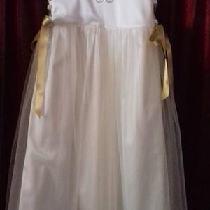 Koszorúslány ruha, Esküvő, Ruha, Koszorúslány ruha, Hímzés, Varrás, Koszorúslány ruha kétoldalt fűzővel szabályozható a bősége, 80-146-os méretig készítem.\nBármilyen sz..., Meska