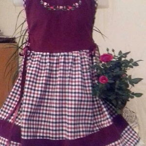 Kordbársony lányka ruha (peteryeva) - Meska.hu