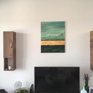 Behunyt szemmel nyugalomban, Művészet, Festmény, Akril, Festészet, A kép egy letisztult, egyszerű, mégis igen mutatós, modern akril festmény. \nJól megtalálja helyét mo..., Meska