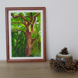 Fák, Egyéb, Festészet, Akvarell kép, mely teljesen saját munka, nem az internet inspirálta.\nA/4-es méretnek felel meg, 21 x..., Meska