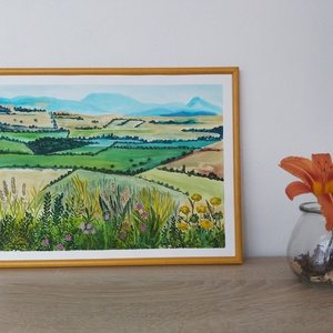 Mező, Egyéb, Festészet, Mező című akvarell festményem A/3 méretben vásárolható meg 30 x 40 cm.\nA képkeret nem képezi részét ..., Meska