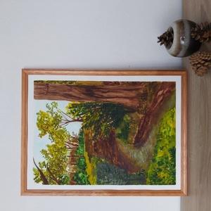 Erdő, Egyéb, Festészet, A/3 méretű akvarell  festmény.\nA képkeret nem képezi részét az adásvételnek, de kiegészítő szolgálta..., Meska