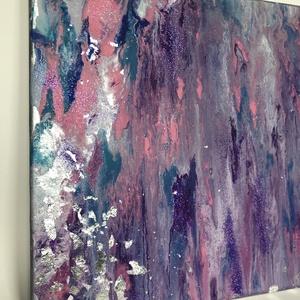 Modern festmény, Otthon & lakás, Képzőművészet, Festmény, Akril, Festett tárgyak, Modern folyatott technikával készült a képen látható festményem. A színvilága miatt leginkább hölgy ..., Meska