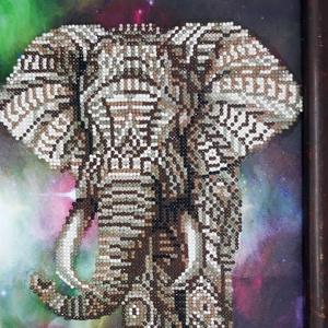 Diamond painting elefántos kép, Otthon & Lakás, Kép & Falikép, Dekoráció, Mindenmás, Fotó, grafika, rajz, illusztráció, Meska