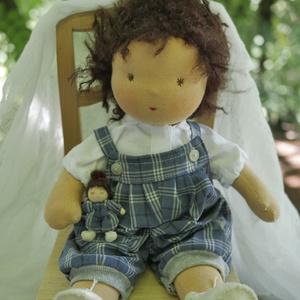 Mimi waldorf baba , Játék, Baba játék, Baba, babaház, Plüssállat, rongyjáték, Baba-és bábkészítés, Varrás, Szívemnek nagyon kedves,amolyan