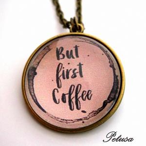 Kávé nyaklánc gyűrű szett Kávés Coffee (Petusa) - Meska.hu