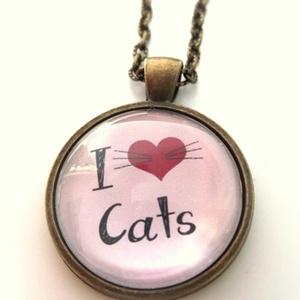 Macska Cica nyaklánc Macskás Cicás cica kedvelőknek, Ékszer, Medálos nyaklánc, Nyaklánc, Ékszerkészítés, Meska