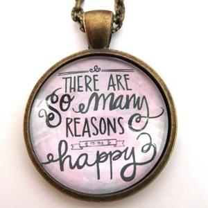 Ok a boldogságra feliratos nyaklánc betű inspiráló gondolatok, Ékszer, Medálos nyaklánc, Nyaklánc, Ékszerkészítés, Gyöngyfűzés, gyöngyhímzés, Meska